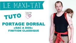 """maxi-tai """"SAC À DOS"""" FINITION CLASSIQUE NŒUD SUR LE DEVANT"""