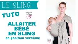 sling allaiter bébé le tutoriel